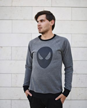 Organic cotton pullover sweatshirt - Hero of the SKY