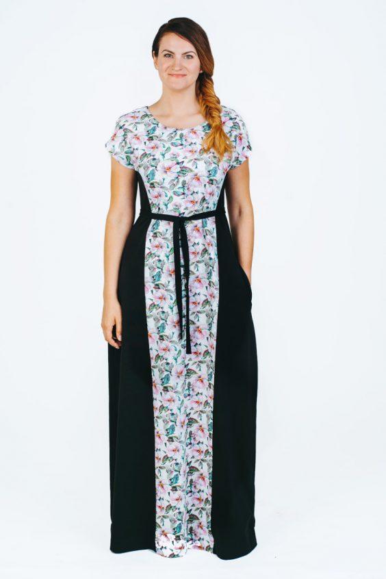 Ilga gėlėta suknelė nerasa