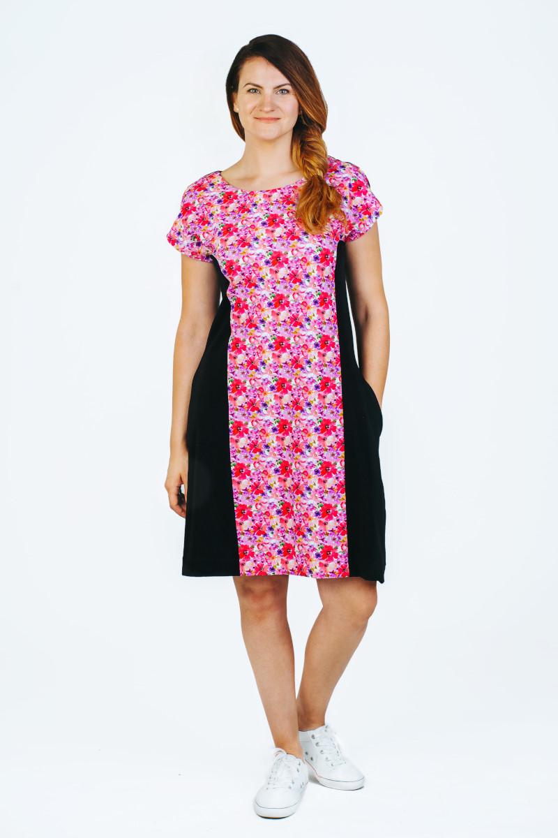Formuojanti figūrą suknelė vasaros pieva