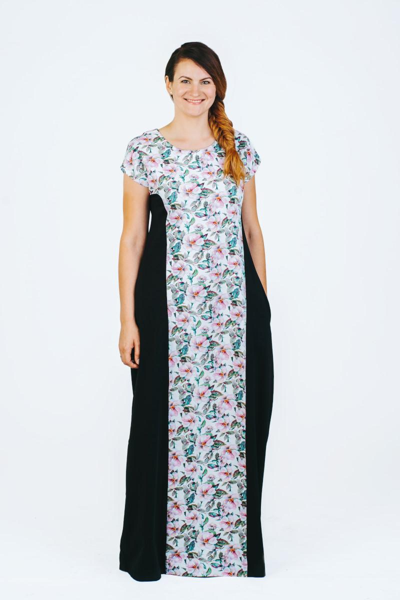 Gėlėta suknelė vasarai nerasa