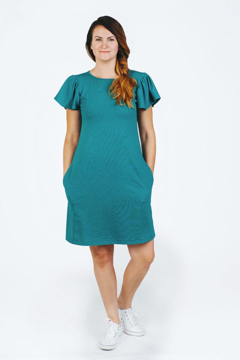 žalia suknelė vasarai nerasa