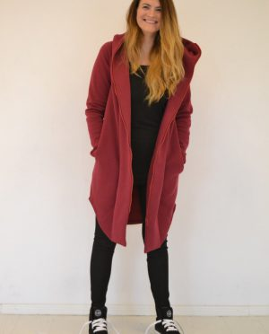 Women hooded summer coat 'SEA' - Rhododendron