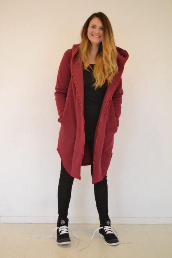 Women hooded summer coat 'SEA' – Rhododendron
