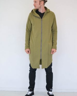 Hooded summer jacket for men 'SEA' in Khaki color