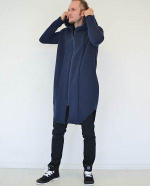 Mėlynas Unisex džemperis su gobtuvu – 'JŪRA'