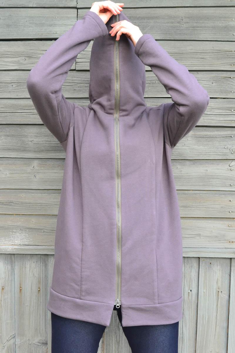 Brown unisex zipped jacket 'ROAD'