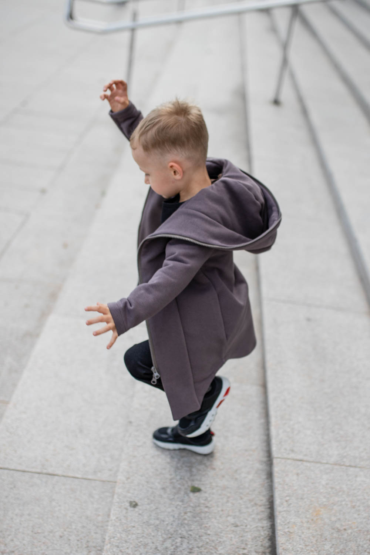 Brown hooded summer outwear for kids – jumper 'SEA'