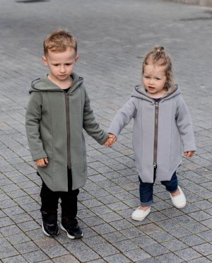 Summer kids coat 'SEA' – Olive green