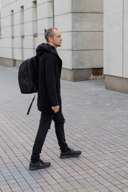 Black short cotton knit summer jacket 'ROAD'