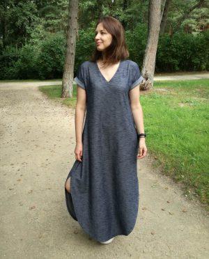 Patogi ilga laisva suknelė 'MARIOS' sukurta ir pagaminta Lietuvoje