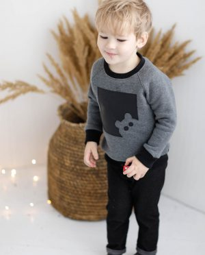 Organic cotton kids jumper 'TEDDY BEAR'