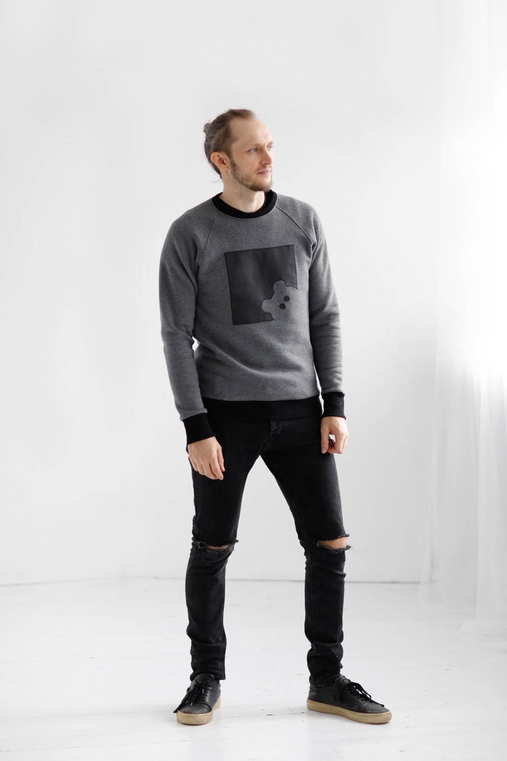 _35A5302-Sweatshirt from eco cotton knit 'BEAR'
