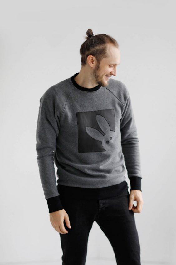 Organic cotton warm sweatshirt 'BUNNY'