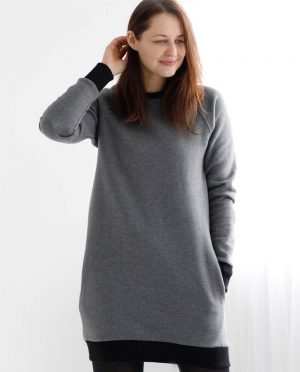 Warm women jumper with pockets 'SIMPLICITY'