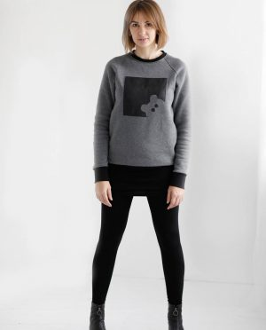 Sweatshirt from eco cotton knit 'BEAR'