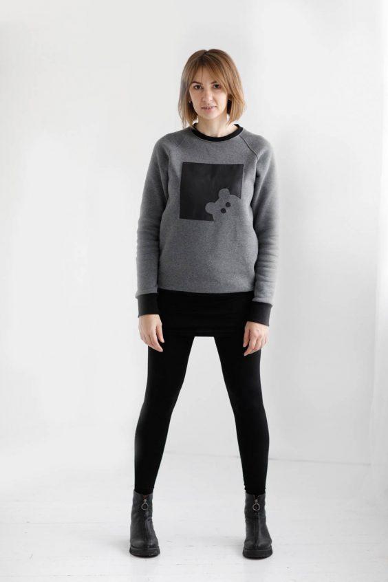 Sweatshirt from eco cotton knit 'BEAR'