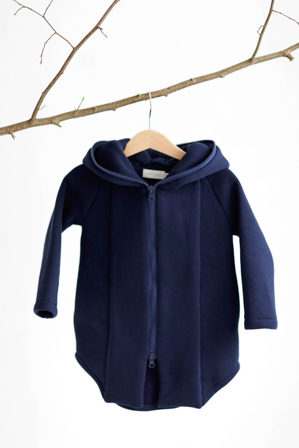 Blue zipped jumper with hood for kid 'SEA'