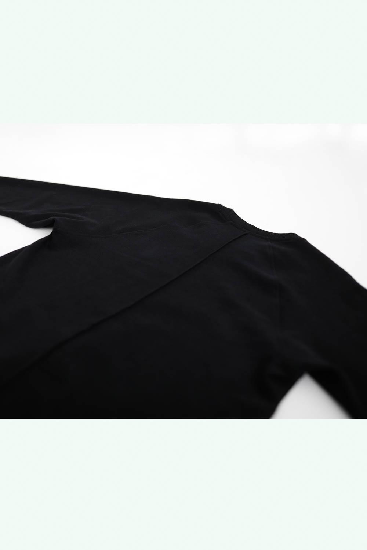 Black urban style sweatshirt for men and women