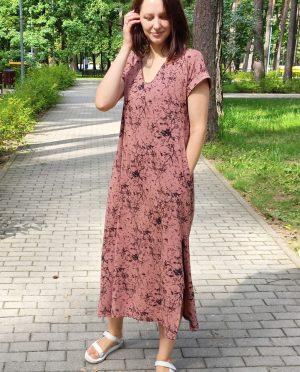 Loose cotton summer dress 'ŽEMYNA'